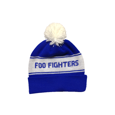 Pom Fighter Blue Beanie