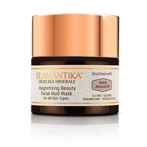 MAGNETIZING BEAUTY FACIAL MUD MASK - SWEET ALMOND OIL