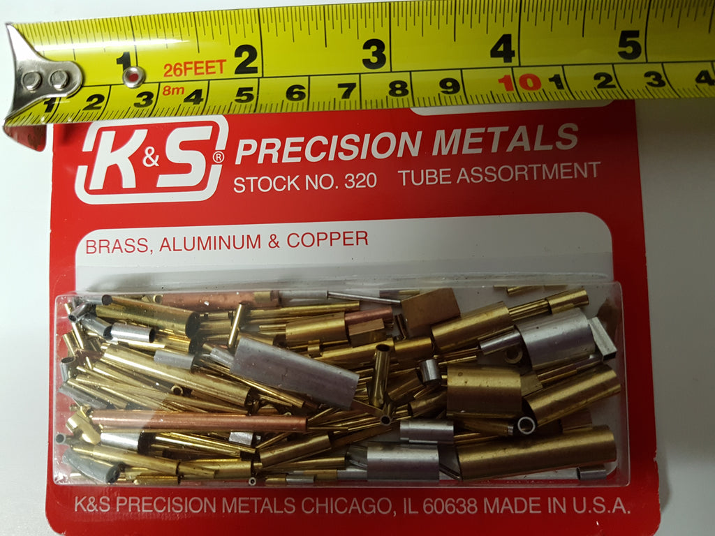 K&S Metals. Tube Assortment. Short Pieces of Assorted Metal Tube