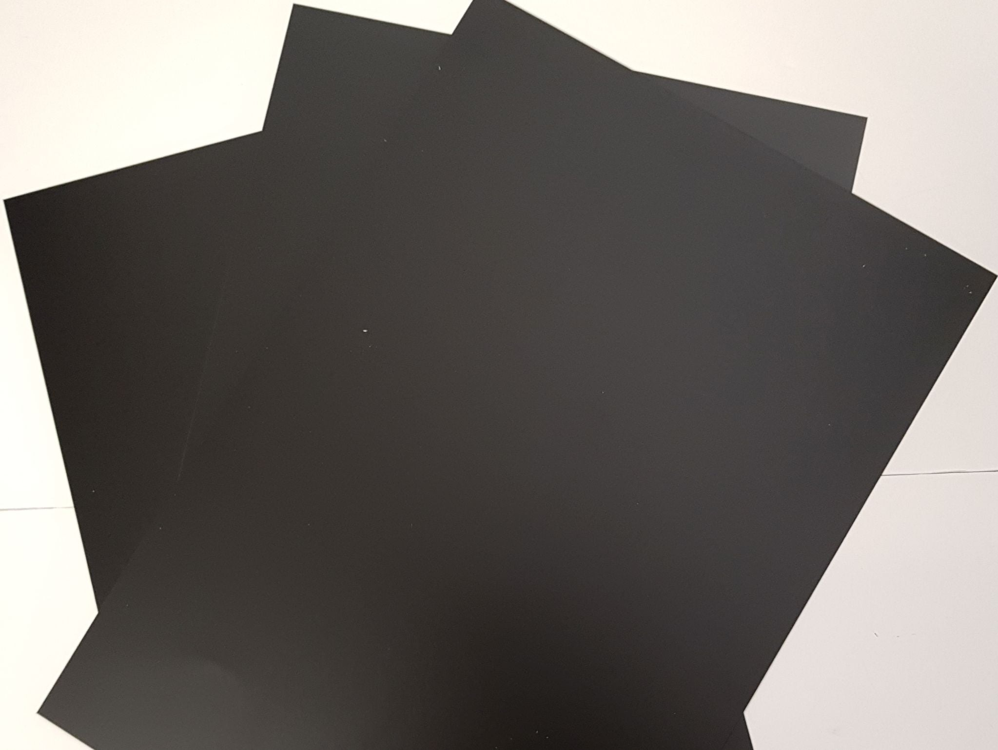 Styrene Sheet, Card.BLACK. Single Sheet 305mm x 228mm