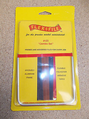 Flex-i-file Abrasives Combo set 123. Abrasive tapes in aluminium frame