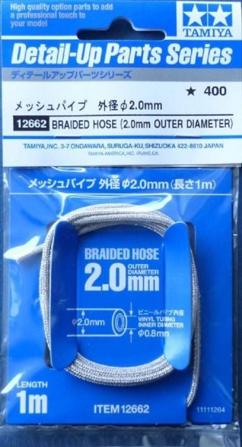 TAMIYA Braided hoses for 1/12 bikes-outer diameter: 2.0mm