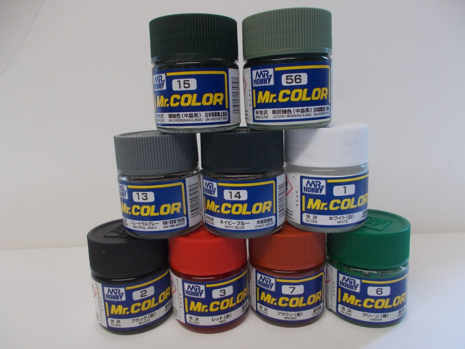 Mr Colour Gunze Solvent Based Acrylic Paints 10ml   C301 to C340  Combined post