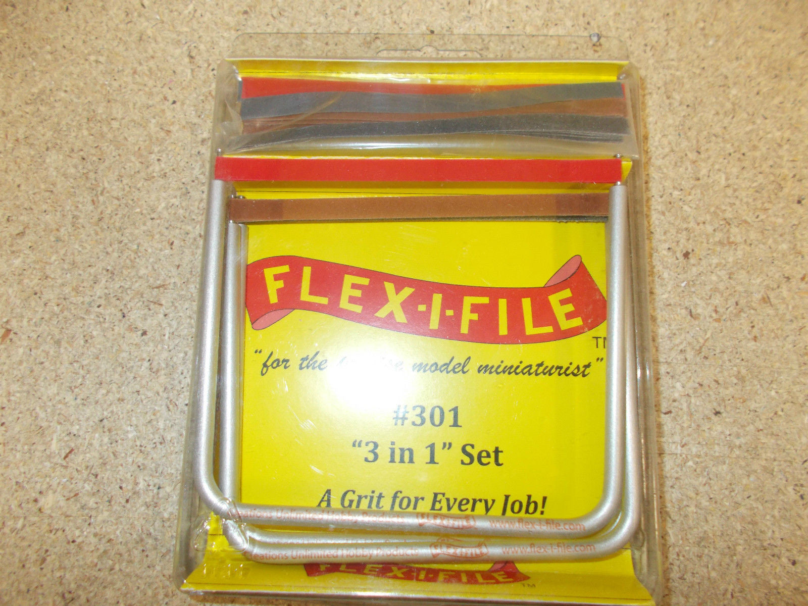 Flex-i-file Abrasives 3 in 1 set #301. Abrasive tapes in aluminium frame