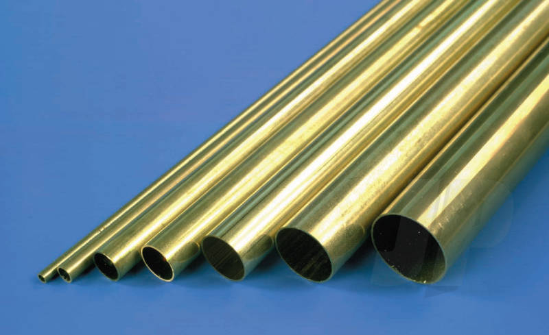 "K&S Metals. Hollow Brass Tube, Imperial sizes, 12"" long. Pack size varies"