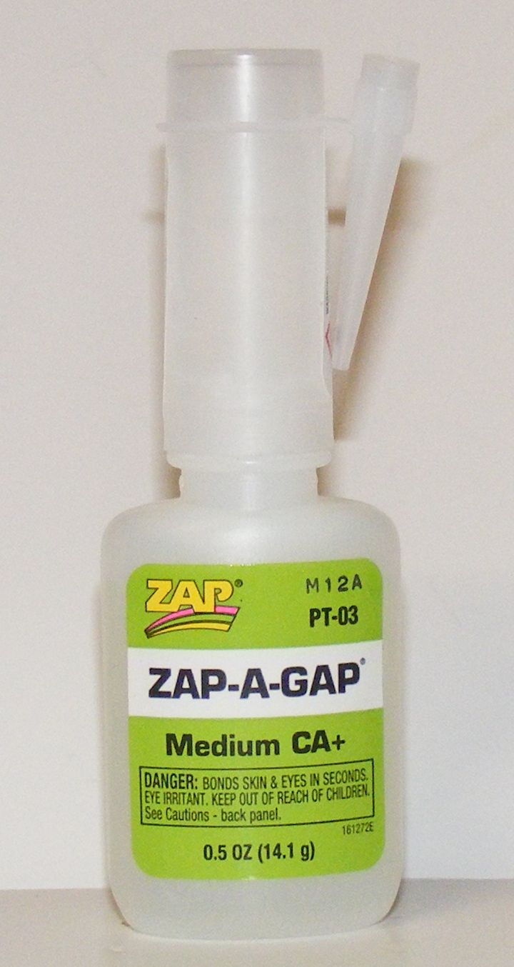 Zap a Gap Medium. Gap filling CA adhesive. Small 14g bottle