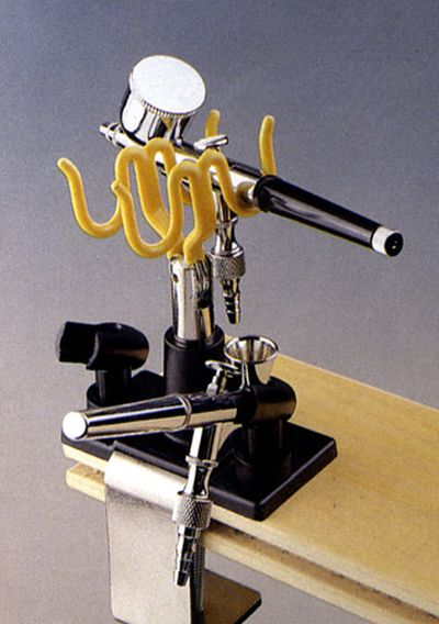 Airbrush Holder - Stand. Securely Holds up to Four Airbrushes. Universal