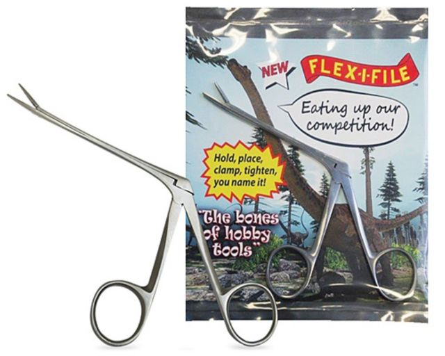 Flex i File Brontosaurus Pliers. Precision Long Reach Pliers