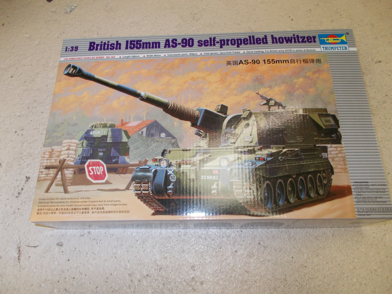 Trumpeter 1:35 -AS-90 155mm self propelled British howitzer