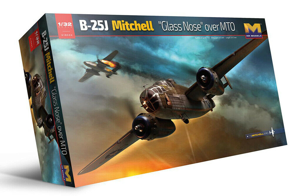 HK Models 1:32 B-25 Mitchell , Glass Nose MTO