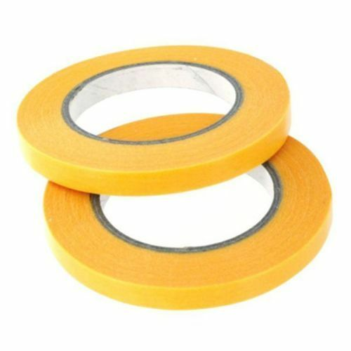 Masking Tape. Low Tack, UV Resistant, 1,2,3,6 & 10mm wide. 2 x 18 metre rolls.