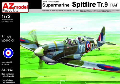 "A-Z 1:72 Spitfire Tr.9 ""RAF Trainer"" Model kit"
