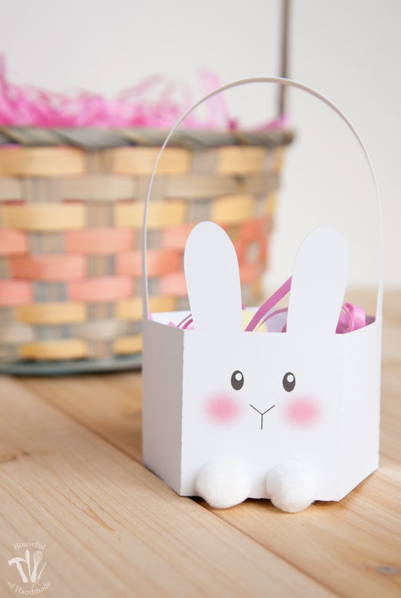 Bunny Easter Basket Cut File