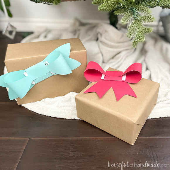 Bow Shaped Gift Card Holder Cut Files