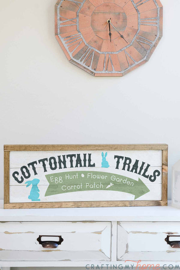 Bunny Trail Sign Cut Files