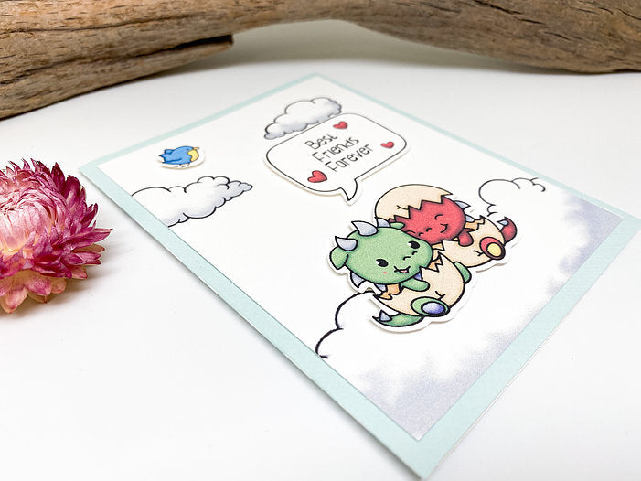 Best Friends Forever Baby Dragons Greeting Card