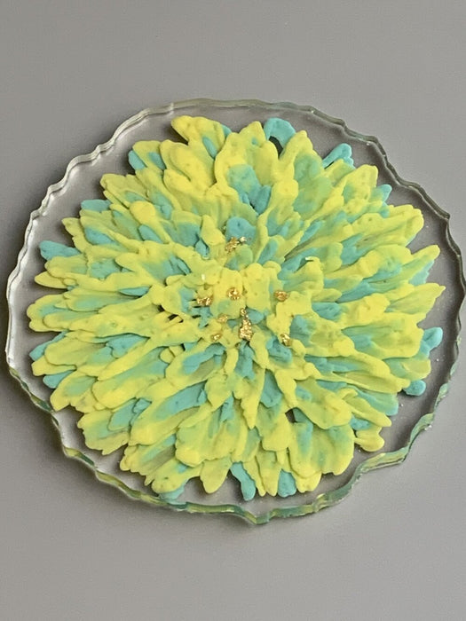 3D Floral Drink Coasters - Chrysanthemums - Set of 4