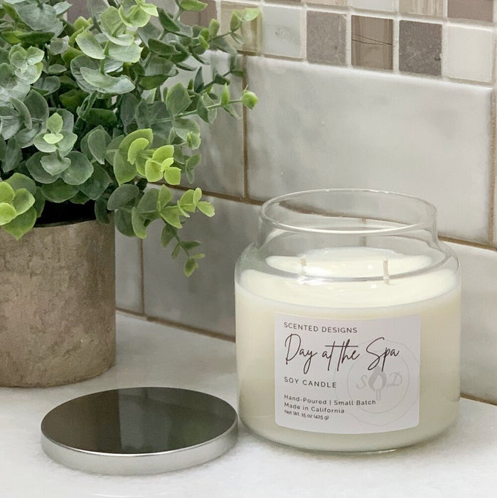 Apothecary Jar Soy Candle: Day at the Spa