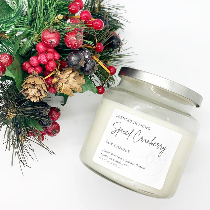 Apothecary Jar Soy Candle - Harvest Scents: Spiced Cranberry