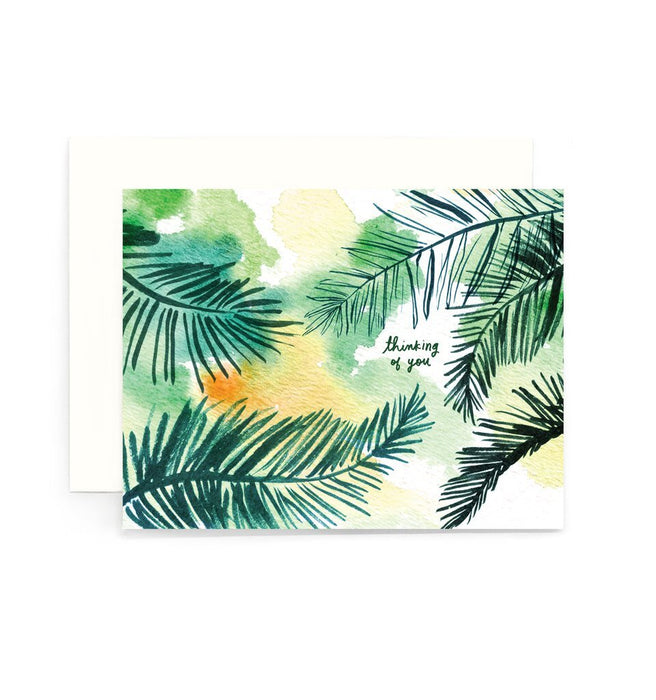 Thinking of You Coconut Leaves Card