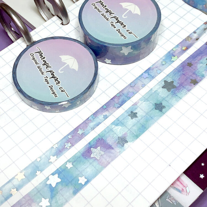 Misty Skies Foiled Washi Set