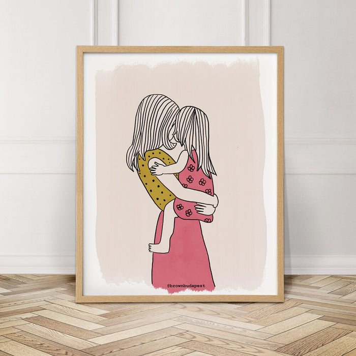 Mom & Daughter - Art Print