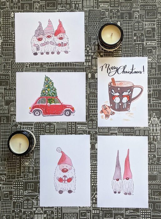 Set of 5 Christmas Cards