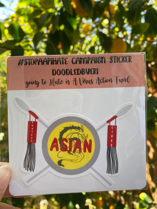 Protect Asian Lives Shield Sticker