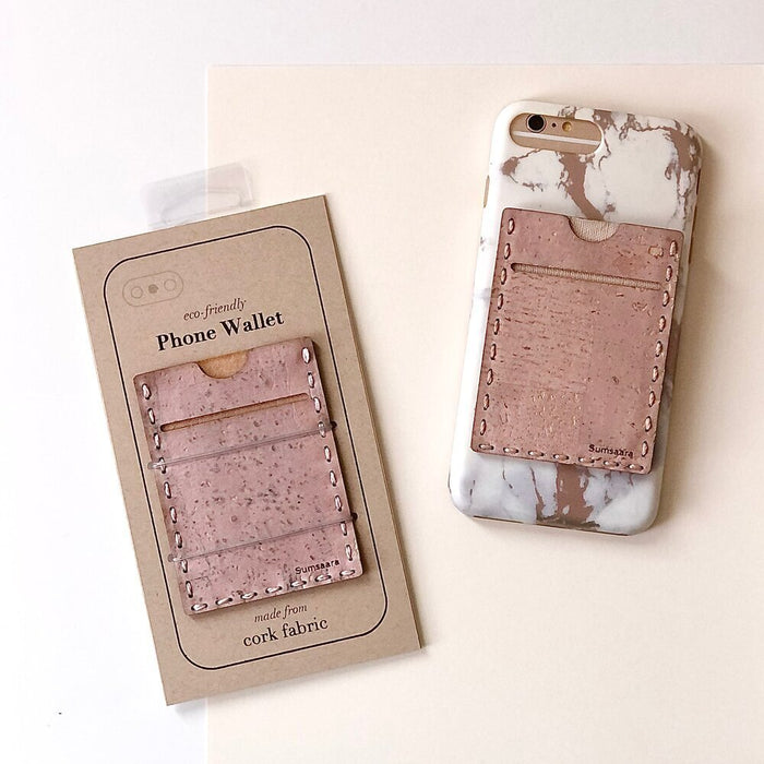 Cork Fabric Phone Wallet