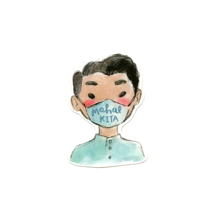 Mahal Kita Mask Boy Sticker