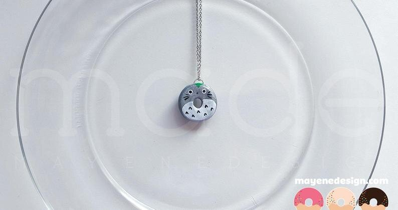 Totoro Donut Necklace