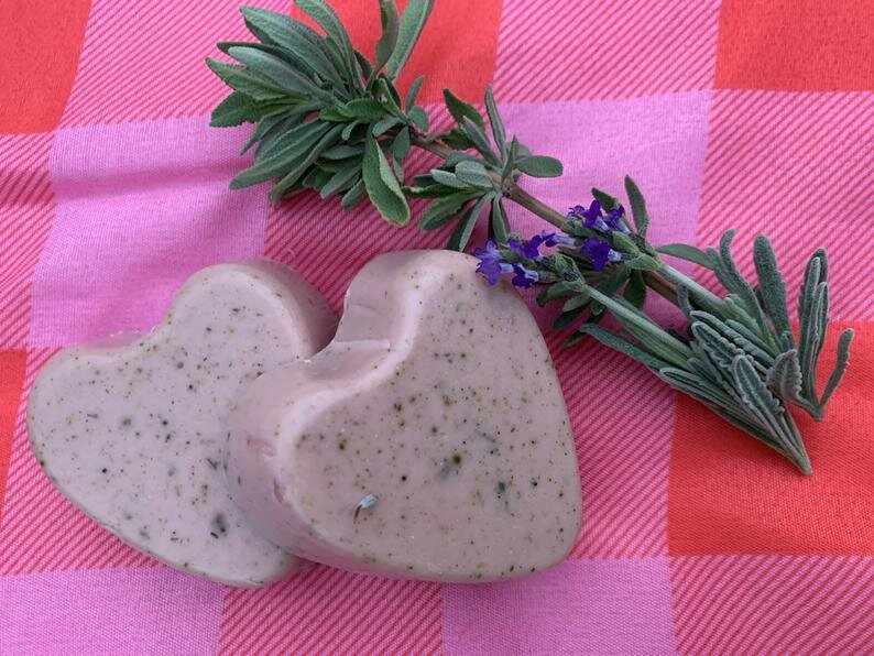 Lavender and sage soap and sachet gift set