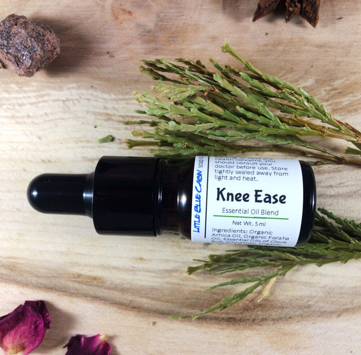 Knee Ease /Relief Essential Oil Blend/ An All Natural Solution Helps with Knee Pain 5ml/9ml (Organic Base Oils, Essential Oils, Zero Waste )