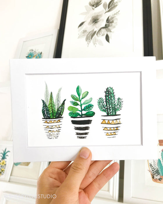 Minimalist Potted Plants Print