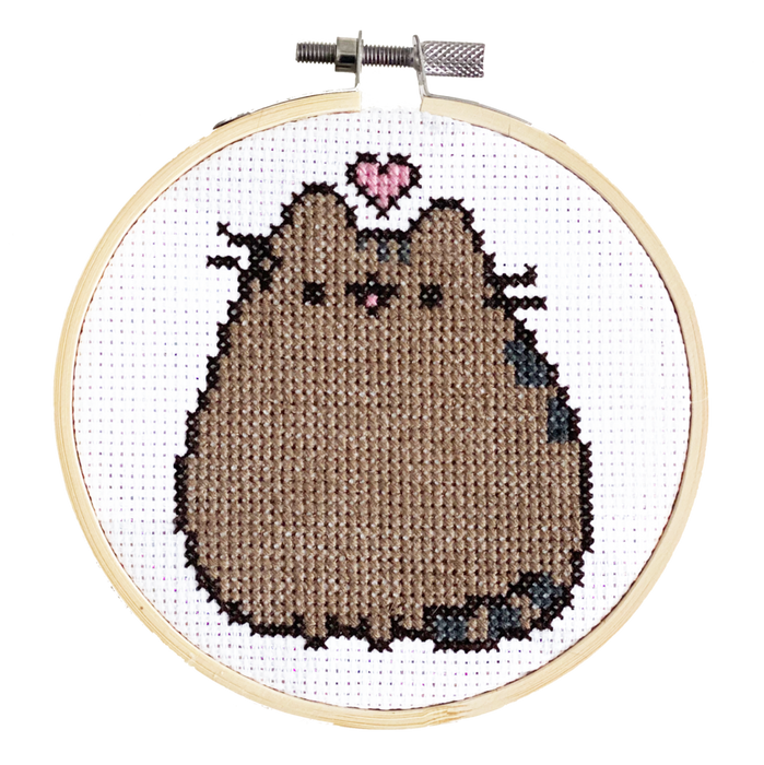 Pusheen Loves You - DIY Cross Stitch Kit