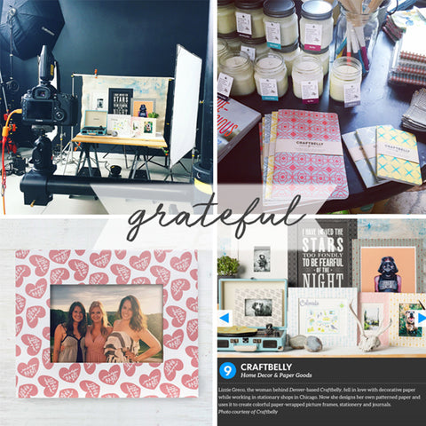 Grateful: collage of four photos