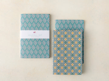 Citrus Leaf and Diamonds Journal Set