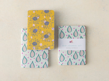 Bloom and Teardrop Mini Journal Set