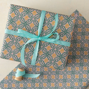 Citrus Leaf Wrapping Paper Sheets