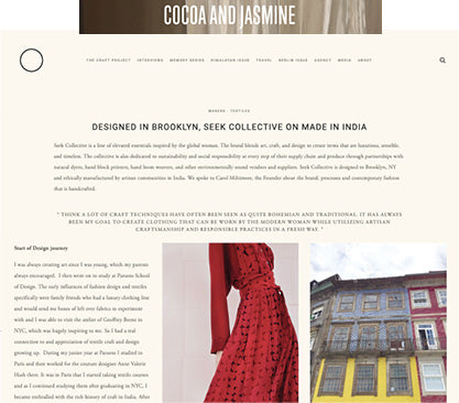 seek collective cocoa and jasmine the craft project interview