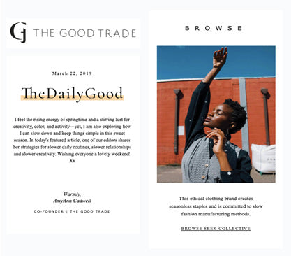 the good trade newsletter seek collective