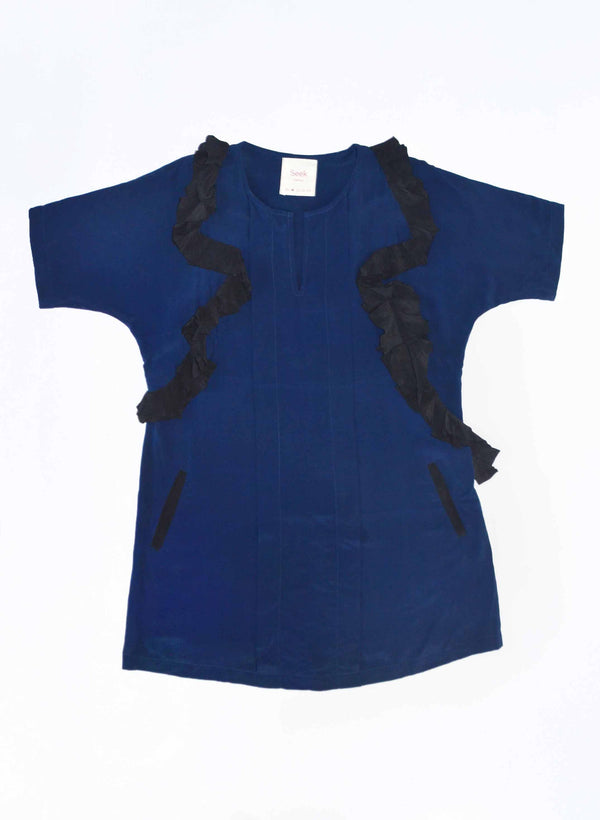 Archive Sale | Cove Dress, deep indigo