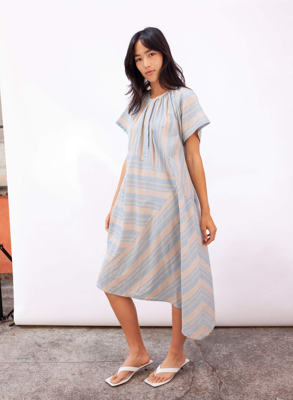 Leta Dress, cirrus stripe (XS-4XL)