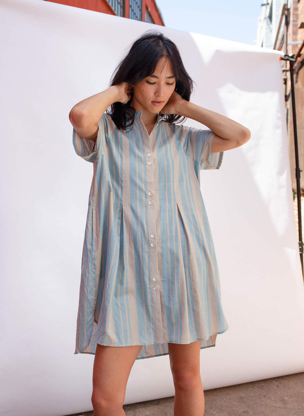 Brenna Dress, cirrus stripe