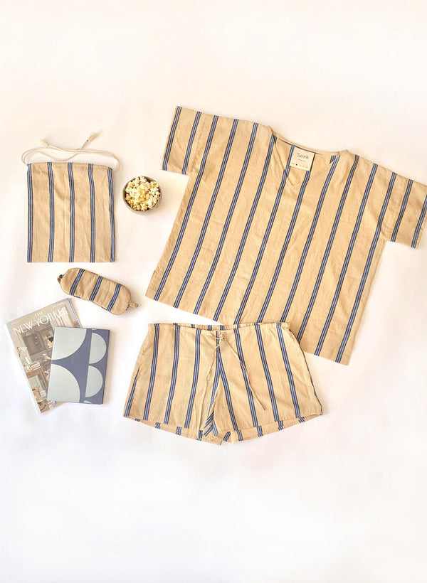 Sleep Set, shoreline stripe