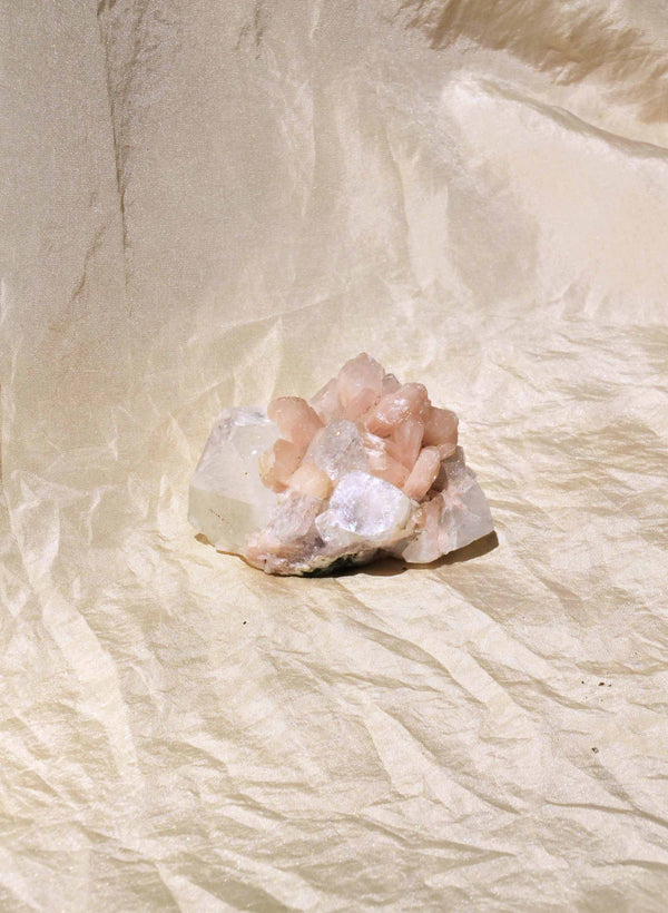 Market Finds: Pink Stilbite with Apophyllite Cluster