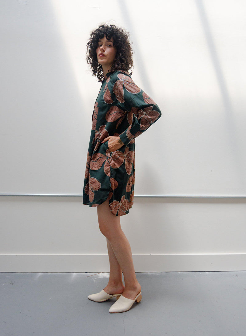 Sonia Dress, fern Hilma Print