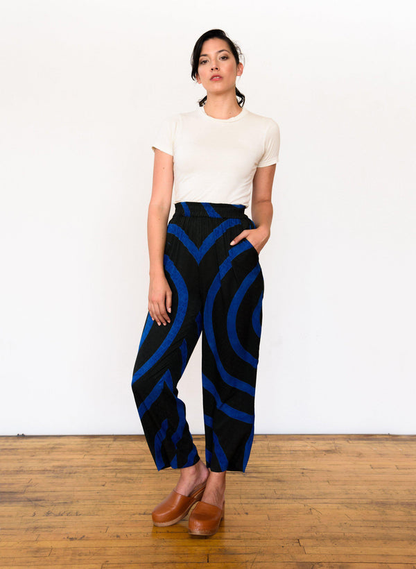 Sukie Pants, deep emerald echo print