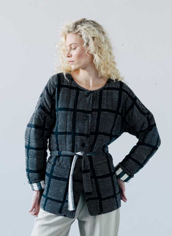 AM Quilted Coat, windows cotton woven