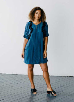 Cove Dress, indigo blue